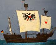 Lisa von Lübeck, 50 x 40 cm, Acrylfarben auf Keilrahmen, signiert und datiert 2014