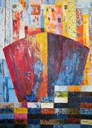 Hafen - 2. 70 x 50 cm, Acrylfarben auf Papier, signiert und datiert 2011
