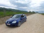 die Löcherstraßen von Albanien