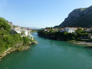 Mostar mit dem Fluss Neretva