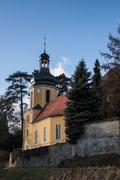 Die Kirche am Landschloss Zuschendorf bei Pirna, 30.12.2012