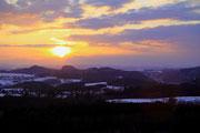 Sonnenuntergang über dem Brandtgebiet