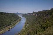 Blick elbabwärts von der Kipphornaussicht nahe des großen Winterberg am 19.5.2012