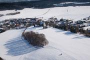 Winterliches Papstdorf vom Papststein, 10.2.2013