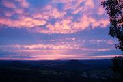 Sonnenuntergang vom Papststein aus am 15.06.2013