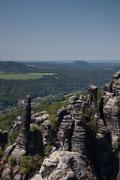 Am 19.5.2012 ist im Klettergebiet der Schrammsteine sehr viel los.