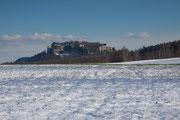 Die Festung Königstein aus Richtung Struppen augenommen am 6.2.2013