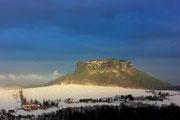 Blick zum Lilienstein von der Königsteiner Festung 16.12.2012