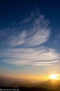Sonnenaufgang über dem Elbtal im Spätherbst 2014