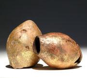 """""""Pépites d'air"""" ronce de bruyère - feuille d'or - 15 cm - 2006"""