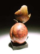 """""""Plum"""" loupe d'orme - h 15 cm -  2006"""