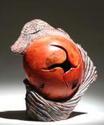 """""""Chimère 003"""" loupe de frêne - h 35cm - 2008"""