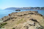 Küste bei Lopar, Insel Rab