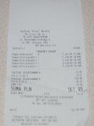 Windeln und Feuchttücher für Sebastin 161,95 Zloty / 40,49 Euro