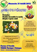 31 mars : Organisation de l'Open de Pâques