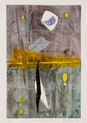 Forme sovrapposte, 2011, calcografia a olio, 26 x 36 cm