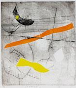 3 elementi, 2008, calcografia a olio, 23,5 x 26 cm