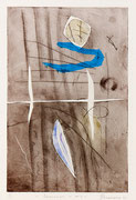 Lacerazioni e aria, 2011, calcografia a olio, 26 x 36 cm