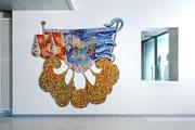 La mungitura dorata, 2010, mosaico in vetro e pietre naturali, 230 x 240 cm (IBSA, Noranco - CH)