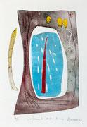 Elemento dentro forma, 2009, calcografia a olio, 25 x 36 cm