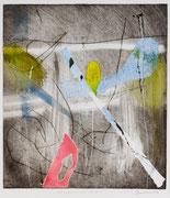 Attraverso un varco, 2007, calcografia a olio, 23,5 x 26 cm