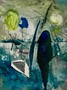 Ombra viandante, 2017, calcografia a olio, 15 x 21 cm
