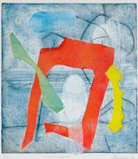 Sovrapposti, 2007, calcografia a olio, 23 x 26 cm