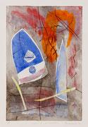 Sogno di un evento, 2011, calcografia a olio, 26 x 36 cm