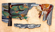 Gli elementi della natura, 2002, mosaico in pietre naturali, ca. 4mq (Casa Descher, Montagnola, Svizzera)