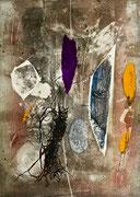 Forma sospesa, 2015, calcografia a olio, 15 x 21 cm