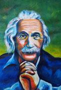 Albert Einstein, Acryl auf Papier