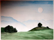 Morgenlicht  Aquarell  ca. 30x40 cm