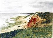 Morsumer Kliff auf Sylt  Aquarell  ca.30x40 cm
