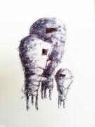 "Andreas Jonak, 2012 ""Gerät"", Ink, 20cm x 15cm"