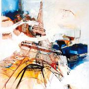 Eiffelturm, Acryl auf Leinwand, 100x100