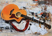 Musik bringt Ordnung in dieses Chaos, Acryl 100x80