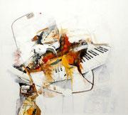 Leise Töne, Acryl auf Leinwand, 90x80