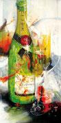 Moet & Chandon, Acryl auf Leinwand, 50x100