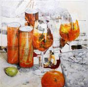 Sprizzeró, Acryl auf Leinwand, 100x100