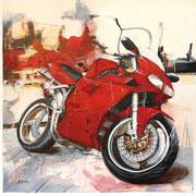 Ducati, Acryl auf Leinwand, 100x100