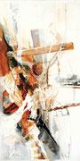 Golgotha, Acryl auf Leinwand, 50x100