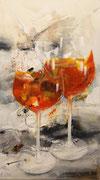 Aperol, Acryl auf Leinwand, 40x80