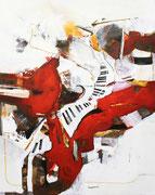 Das Rot meiner Töne, Acryl auf Leinwand, 80x100
