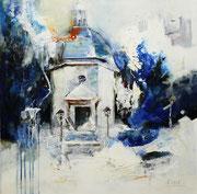 Stille Nacht Kapelle, Acryl auf Leinwand, 60x60