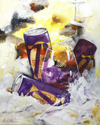 Die Geburt der Violetta, Acryl auf Leinwand,  40x50