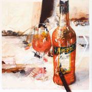 Aperol, Acryl auf Leinwand, 80x80