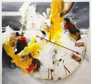 Der Lauf der Zeit, Acryl auf Leinwand, 110x100