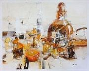 Tequila, Acryl auf Leinwand, 100x90