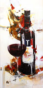 Tschida, Acryl auf Leinwand, 50x100