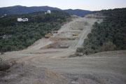 Stand Ende März 2010  - Hier sehen Sie die Vorbereitungsarbeiten für einen Brückenbau.